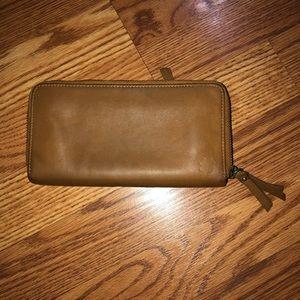 Beautiful Brown Lucky Brand Wallet Double Zip